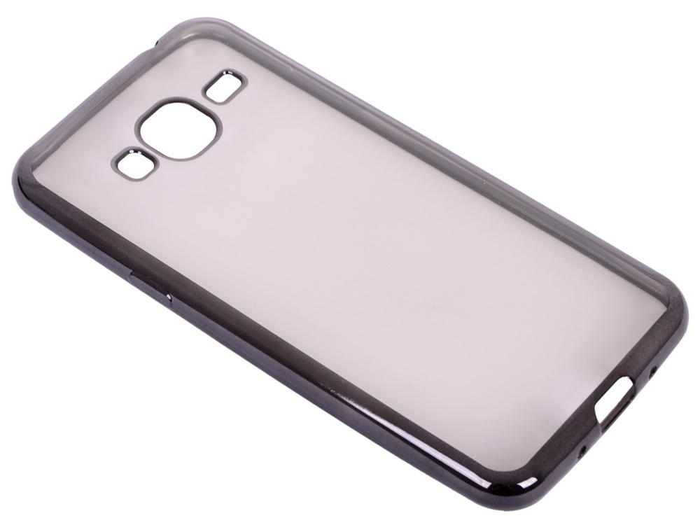 где купить  Силиконовый чехол с рамкой для Samsung Galaxy J3 (2016) DF sCase-28 (black)  дешево