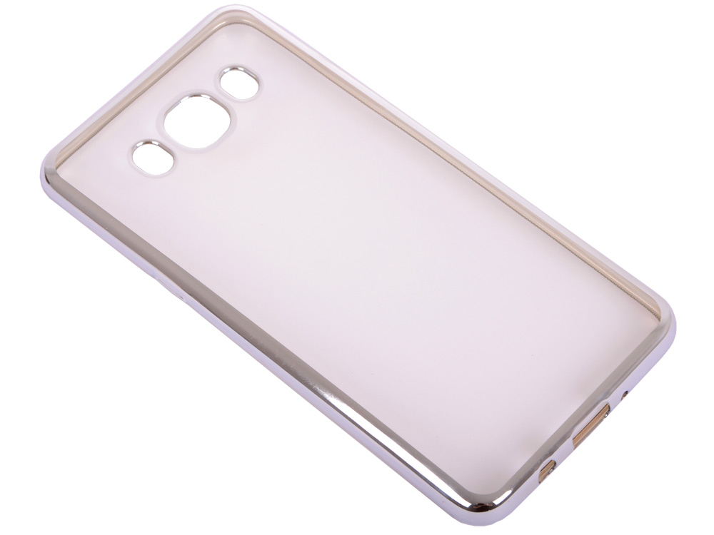 Силиконовый чехол с рамкой для Samsung Galaxy J5 (2016) DF sCase-29 (silver) силиконовый чехол с рамкой для samsung galaxy j2 prime grand prime 2016 df scase 36 gold