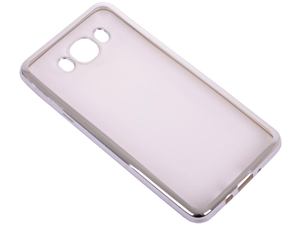 Силиконовый чехол с рамкой для Samsung Galaxy J7 (2016) DF sCase-30 (silver) чехол epik двухслойный ударопрочный с защитными бортами экрана verge для j710f galaxy j7 2016