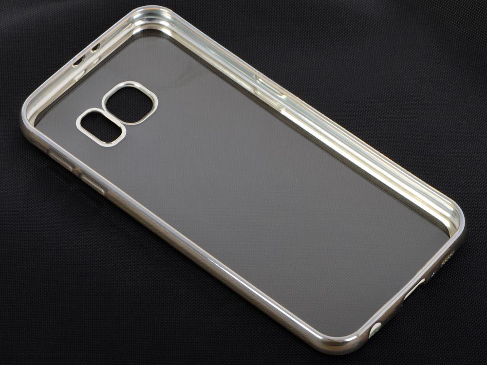 Силиконовый чехол с рамкой для Samsung Galaxy S6 DF sCase-31 (silver) аксессуар чехол samsung galaxy a7 2016 df scase 24 rose gold