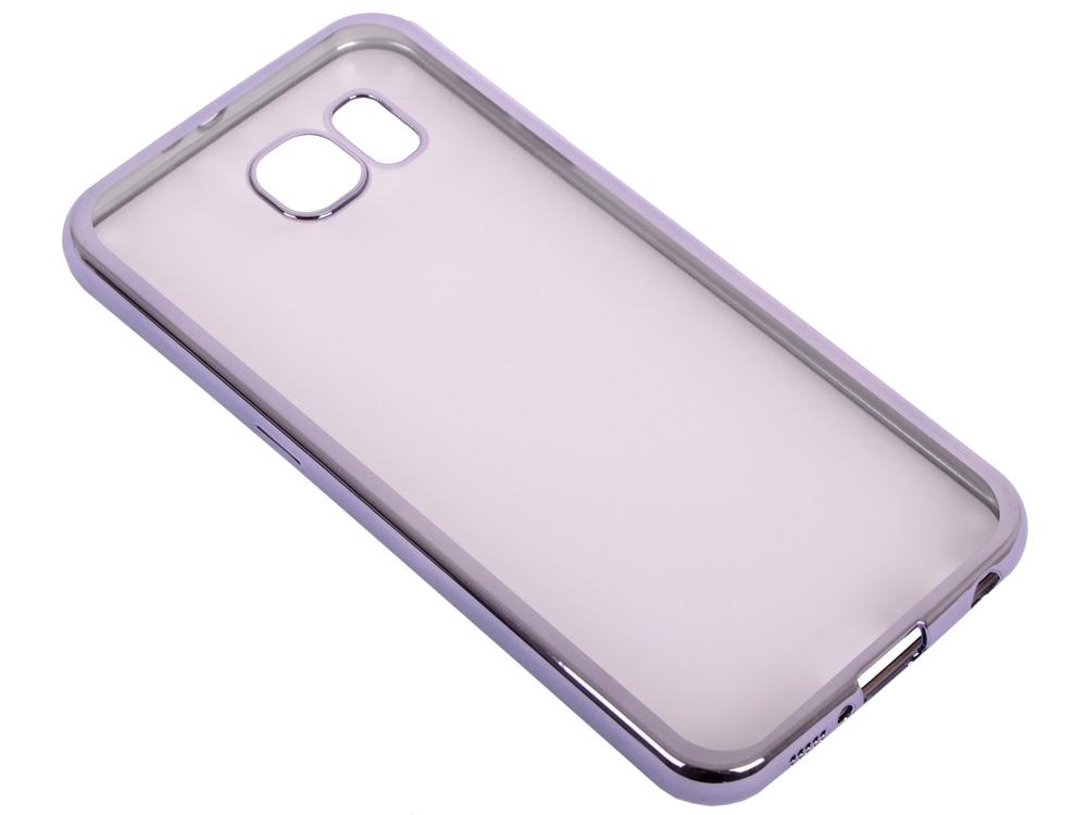 Силиконовый чехол с рамкой для Samsung Galaxy S6 DF sCase-31 (space gray) силиконовый чехол с рамкой для samsung galaxy j2 prime grand prime 2016 df scase 36 black