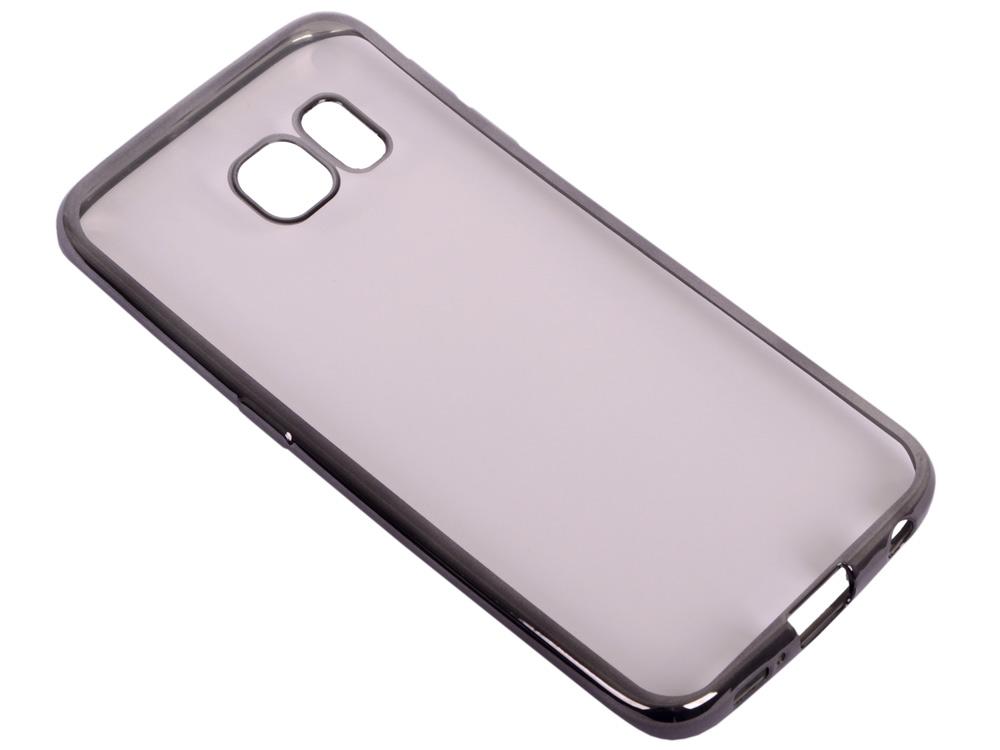все цены на  Силиконовый чехол с рамкой для Samsung Galaxy S6 Edge DF sCase-19 (black)  онлайн