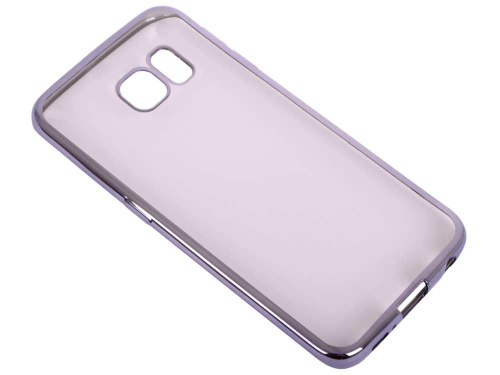 Силиконовый чехол с рамкой для Samsung Galaxy S6 Edge DF sCase-19 (space gray) аксессуар чехол samsung g925f galaxy s6 edge df scase 19 rose gold