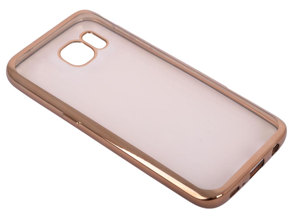 Силиконовый чехол с рамкой для Samsung Galaxy S7 DF sCase-32 (gold) силиконовый чехол с рамкой для samsung galaxy j2 prime grand prime 2016 df scase 36 gold