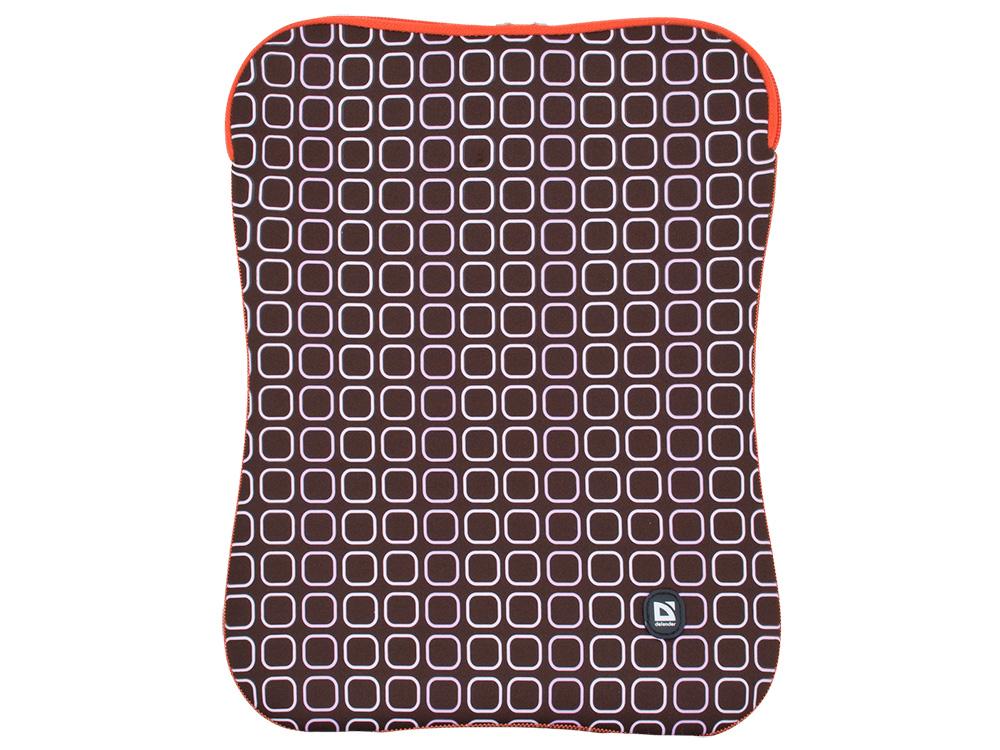 """Чехол для ноутбука Defender Portfolio 15.6"""" коричневый, на молнии"""