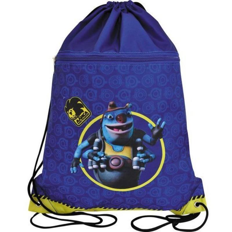 Мешок для обуви АЛИСА, разм.43х34 см, с доп.карманом на молнии, синий