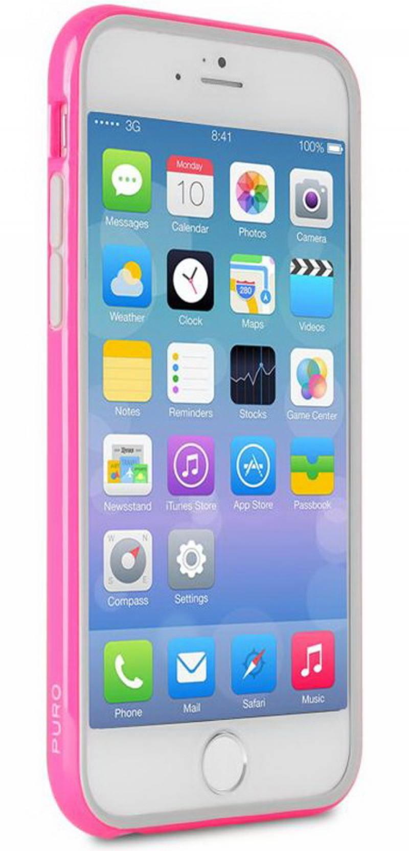 Бампер PURO BUMPER для iPhone 6 розовый IPC655BUMPERPNK