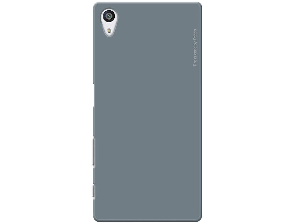 Чехол-накладка для Sony Xperia Z5 Premium Deppa Air Case 83212 Gray клип-кейс, поликарбонат