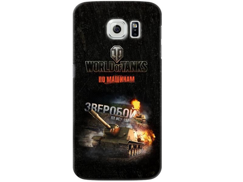 Чехол Deppa Art Case и защитная пленка для Samsung Galaxy S6, Танки_Зверобой,