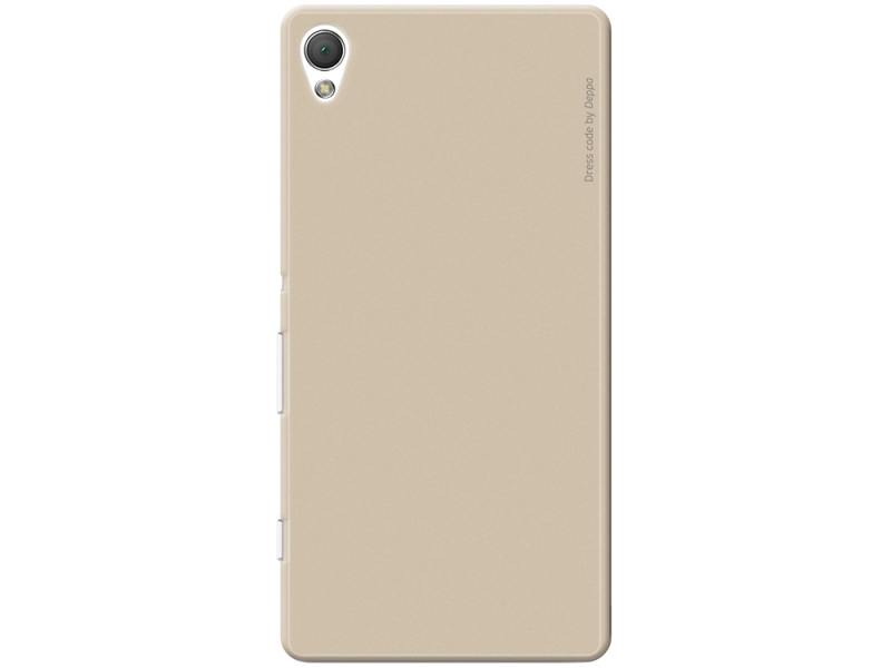 Чехол-накладка для Sony Xperia Z3+ Deppa Air Case 83191 Gold клип-кейс, поликарбонат клип кейс puro ultraslim для sony xperia z3 compact