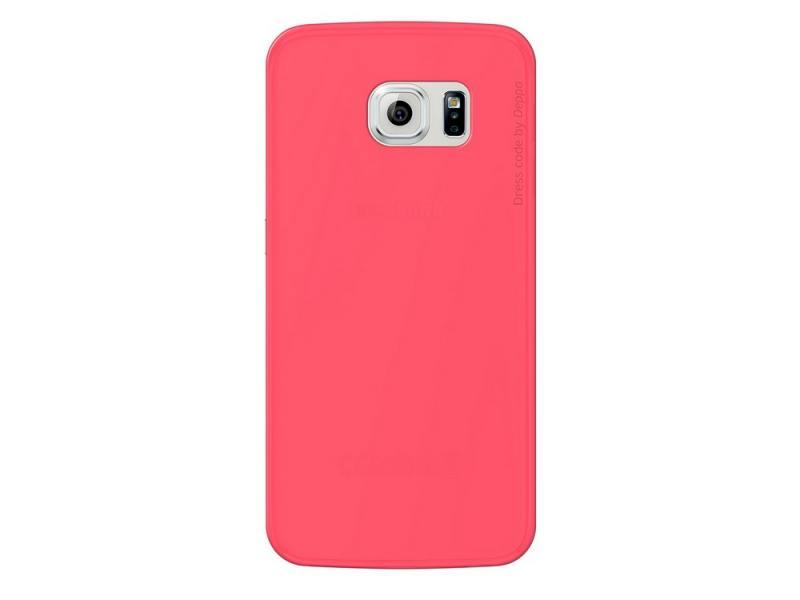 Чехол Deppa Sky Case и защитная пленка для Samsung Galaxy S6 edge коралловый 86045 защитная пленка deppa комплект защитных пленок для galaxy s6 edge