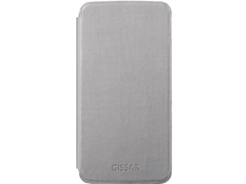 Чехол Gissar Metallic 58227 для Samsung Mega 5.8 серый gissar twill чехол для apple iphone 5c black