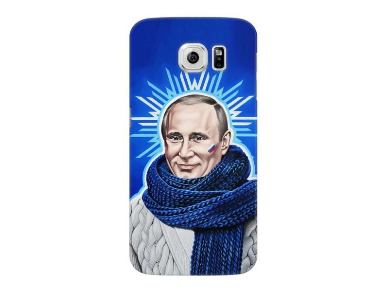 Чехол-накладка для Samsung Galaxy S6 Deppa Art Case Person Путин клип-кейс, полиуретан клип кейс momax trendy для samsung galaxy s6 коричневый