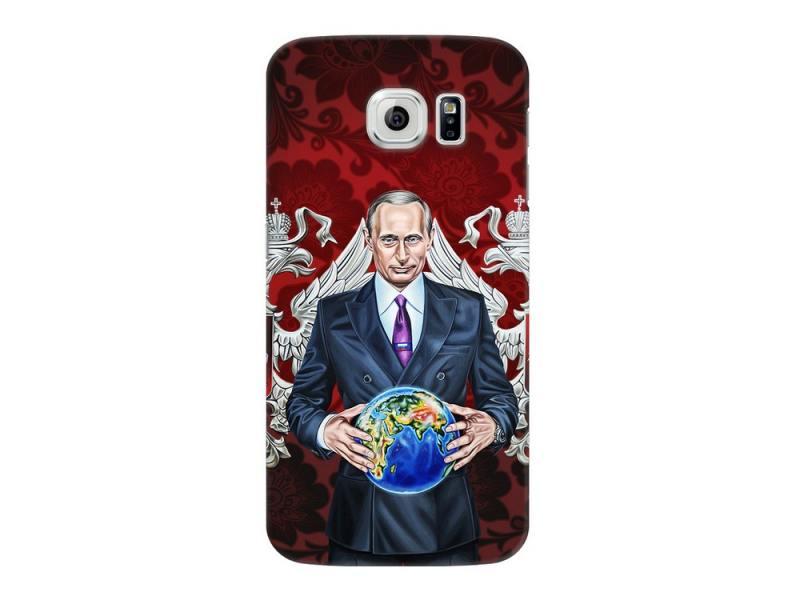 Чехол для Samsung Galaxy S6 Deppa Art Case Путин карта мира клип-кейс, поликарбонат клип кейс deppa huawei y5 lite tpu прозрачный