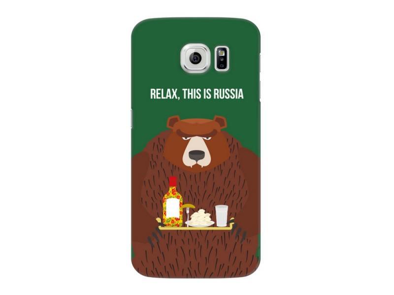 Чехол Deppa Art Case и защитная пленка для Samsung Galaxy S6, Патриот_Медведь, deppa deppa art case для iphone se 5 5s защитная пленка фрекен бок