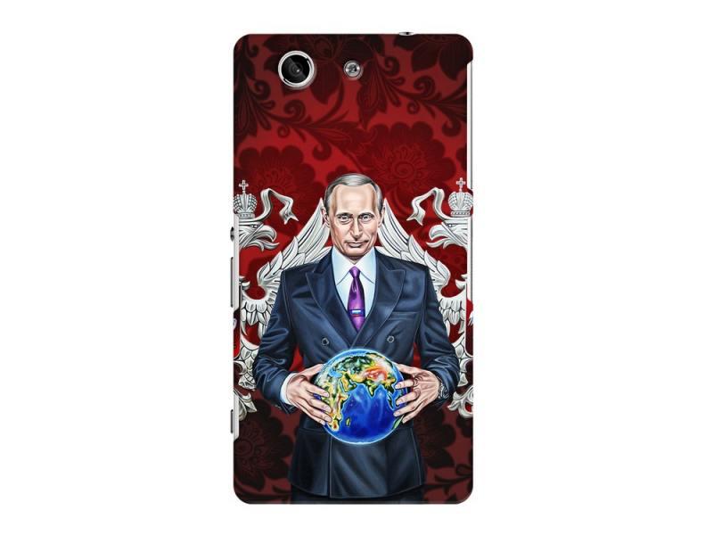 Чехол-накладка для Sony Xperia Z3 Compact Deppa Art Case Путин карта мира клип-кейс, поликарбонат