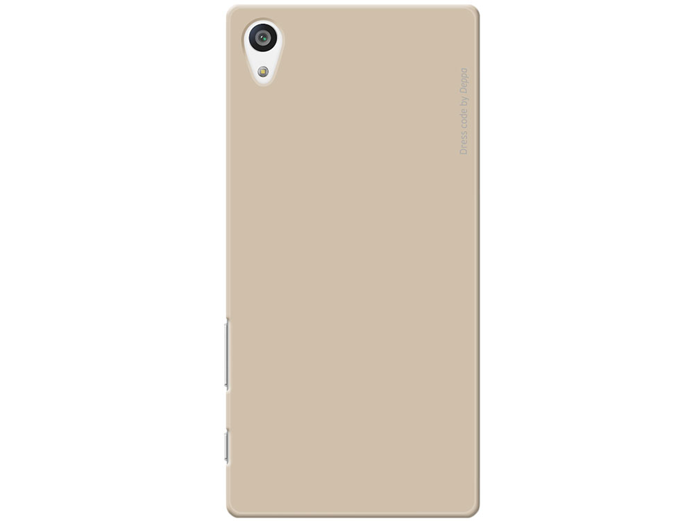 Чехол-накладка для Sony Xperia Z5 Deppa Air Case 83203 Gold клип-кейс, пластик
