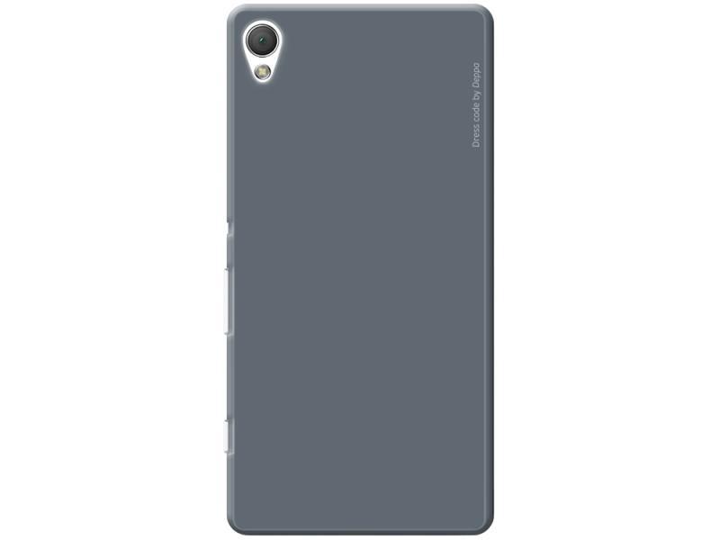 Чехол-накладка для Sony Xperia Z3+ Deppa Air Case Grey клип-кейс, поликарбонат lovemei shockproof gorilla glass metal case for sony xperia z3