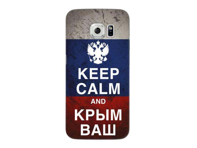 Чехол Deppa Art Case и защитная пленка для Samsung Galaxy S6 edge, Патриот_Крым ваш, чехол deppa sky case и защитная пленка для samsung galaxy s6 edge коралловый 86045