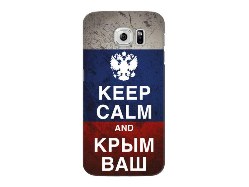 Чехол Deppa Art Case и защитная пленка для Samsung Galaxy S6, Патриот_Крым ваш, deppa deppa art case для iphone se 5 5s защитная пленка фрекен бок