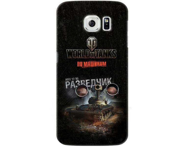 Чехол-накладка для Samsung Galaxy S6 Deppa Art Case Танки клип-кейс, поликарбонат