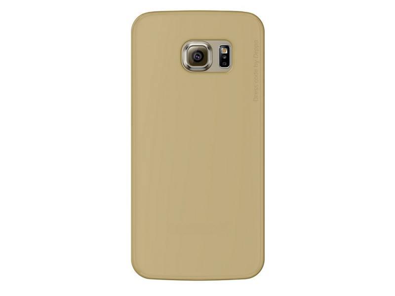 Чехол Deppa Sky Case и защитная пленка для Samsung Galaxy S6 edge золотистый 86042 deppa клип кейс deppa iphone 6 4 7&amp apos &amp apos sky case 0 4 мм защитная пленка pink