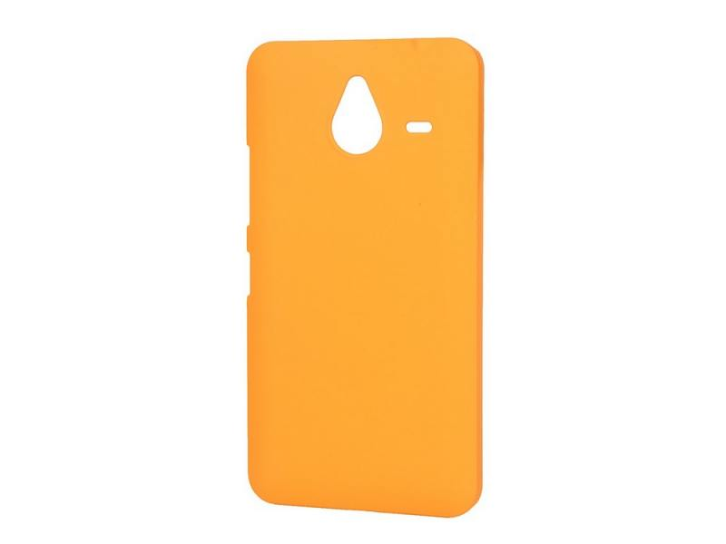 Чехол-накладка для Microsoft Lumia 640 XL Pulsar CLIPCASE PC Soft-Touch Orange клип-кейс, пластик for nokia lumia 620 n620 touch screen digitizer touch panel with frame sets original new black free shipping