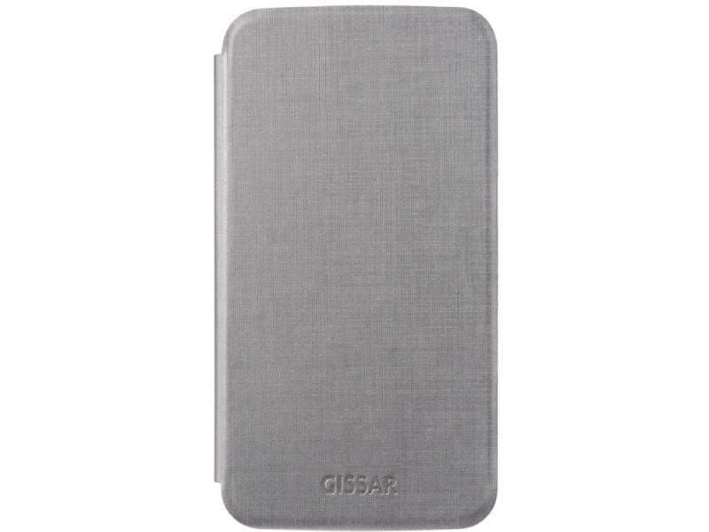 Чехол-книжка для Samsung Mega 6.3 Gissar Metallic Grey флип, искусственная кожа желтый тигр дизайн pu кожа флип кошелек карты держатель чехол для lg g5