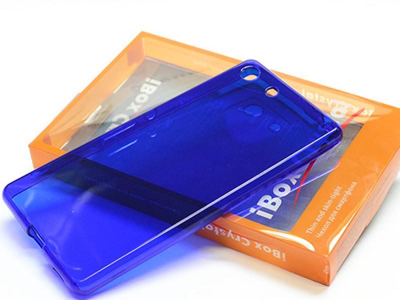 Чехол силикон iBox Crystal для Sony Xperia C5 Ultra (синий) стоимость