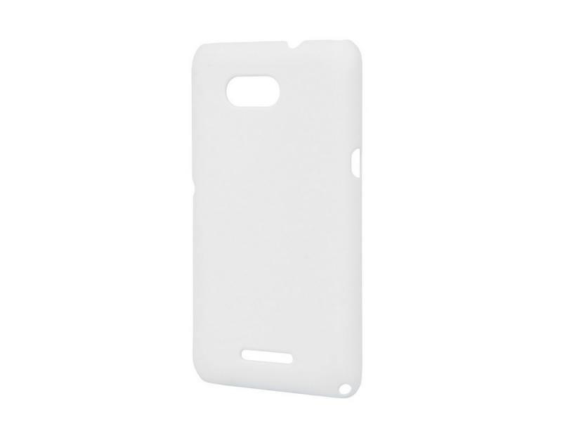 Чехол-накладка для Sony Xperia E4g Pulsar CLIPCASE PC Soft-Touch White клип-кейс, пластик