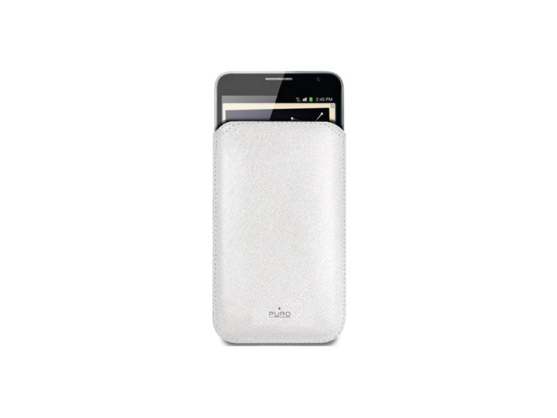 Чехол-накладка для Samsung Galaxy Note PURO Slim Essential Case White клип-кейс, искусственная кожа 3800mah external battery case for samsung galaxy note 3 iii n9000