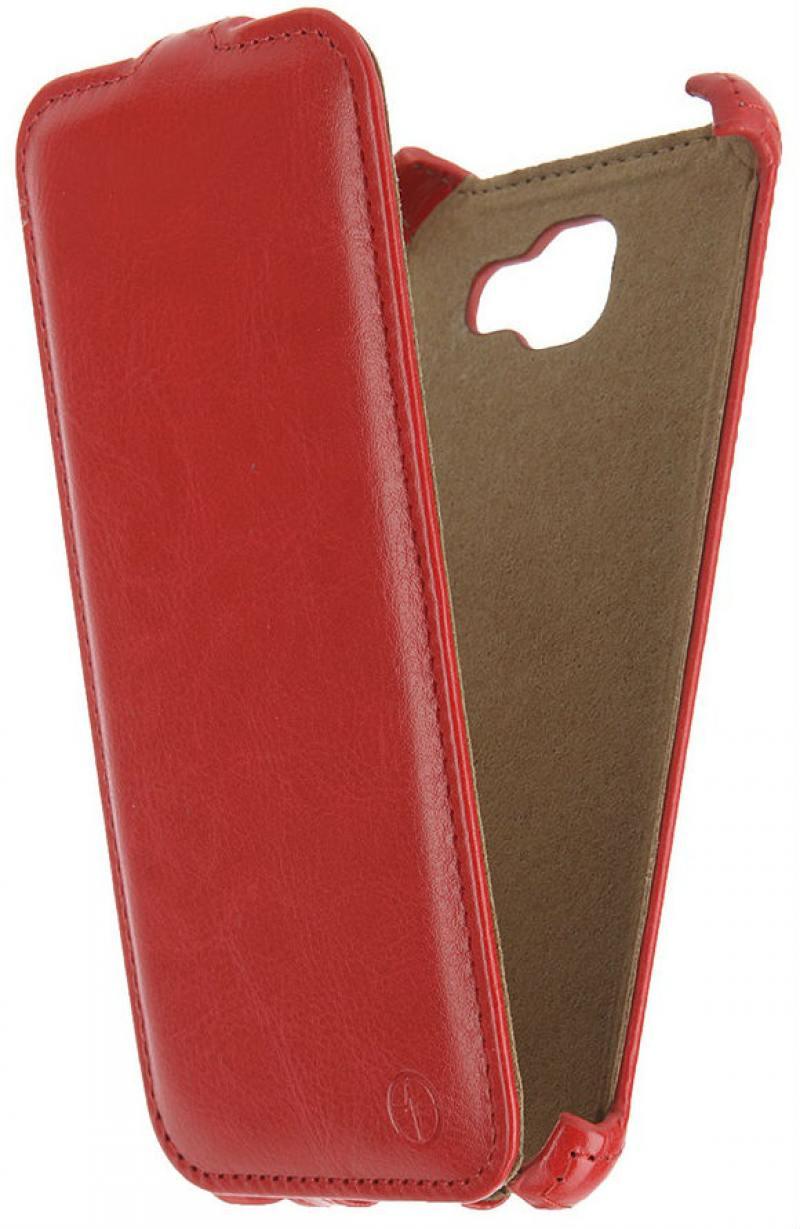 цены на Чехол-книжка для Samsung Galaxy A7 2016 PULSAR SHELLCASE Red флип, искусственная кожа