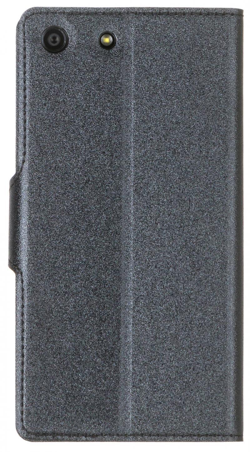 купить Чехол-книжка Red Line Book Type для Sony M5 лазерная фактура черный по цене 200 рублей