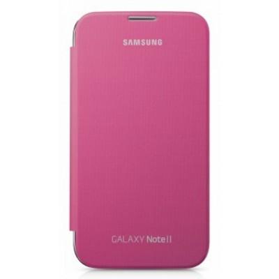 Чехол-книжка Samsung EFC-1J9FPEGSTD Flip Cover для GT-N7100 Galaxy Note 2 розовый чехол клип кейс samsung protective standing cover great для samsung galaxy note 8 темно синий [ef rn950cnegru]
