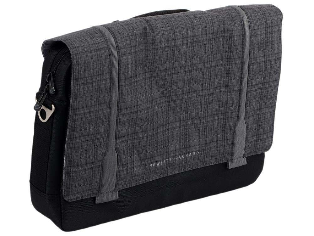 Сумка для ноутбука 15.6 HP Ultrabook Messenger серый-черный F3W14AA 14 чехол для ноутбука hp chroma sleeve серый зеленый