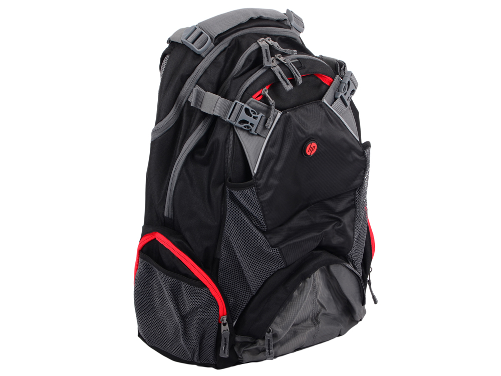 Рюкзак HP 17.3 Full Featured Backpack Black (F8T76AA#ABB) 2016 fashion women waterproof pu leather rivet backpack women s backpacks for teenage girls ladies bags with zippers black bags