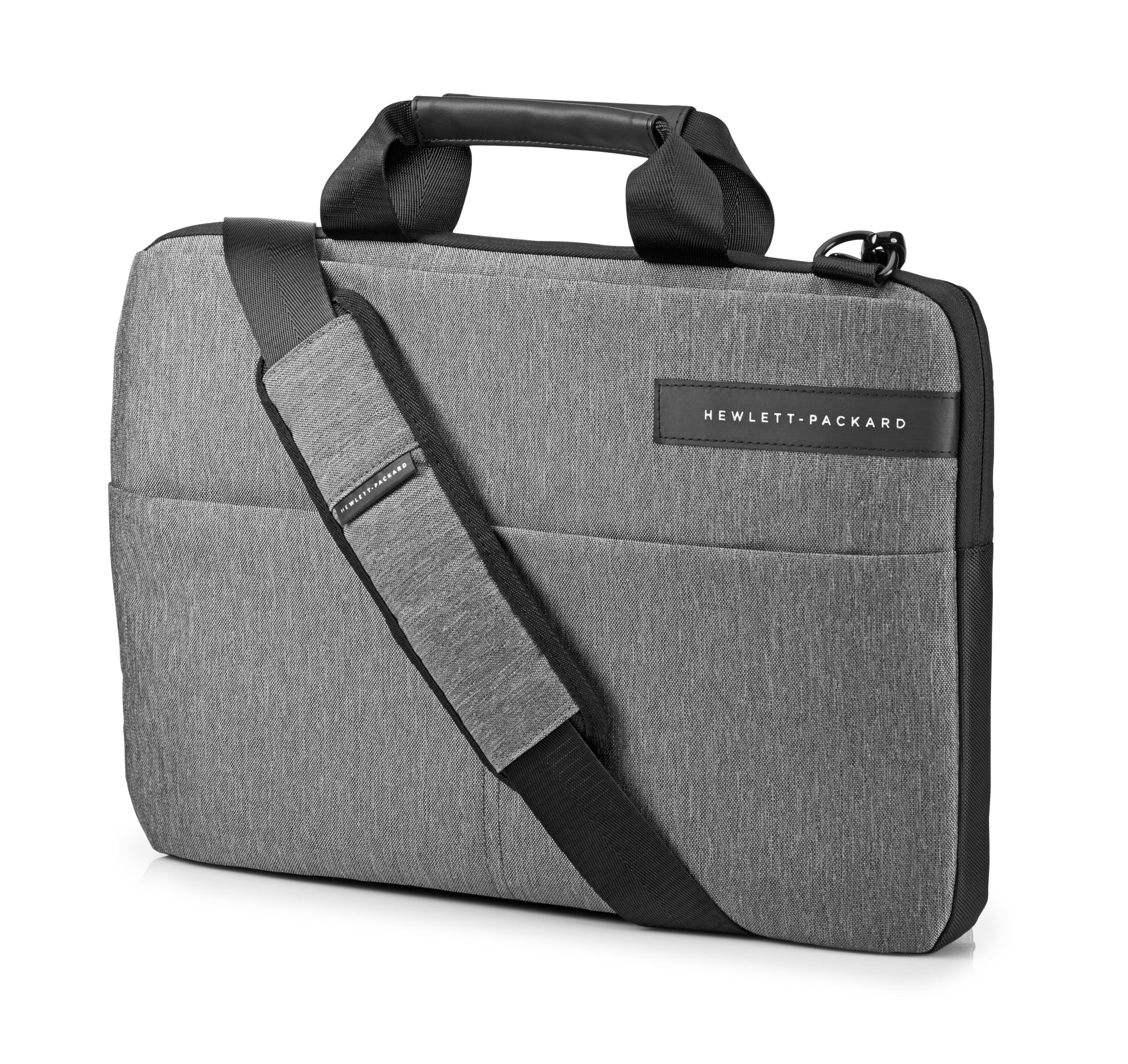 Сумка для ноутбука 14 HP Signature Slim Topload синтетика черно-серый L6V67AA сумка для ноутбука hp signature topload case 15 6 l6v65aa