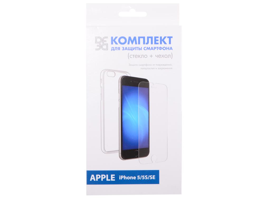 Закаленное стекло + чехол для смартфонов iPhone 5/5S/SE DF iKit-01