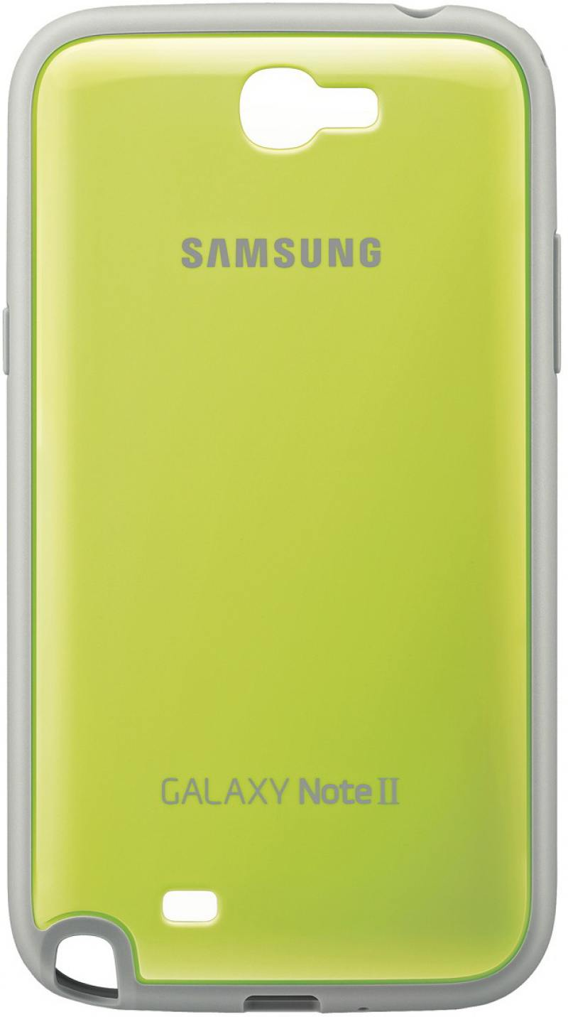 Картинка для Задняя крышка Samsung EFC-1J9BGEGSTD для Samsung Galaxy Note 2 зеленый