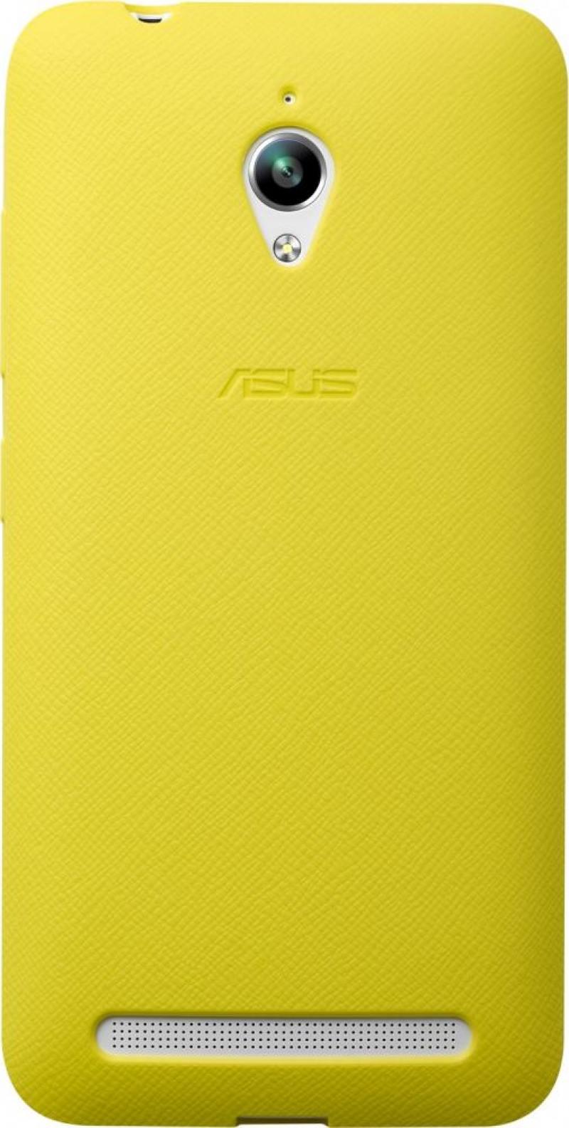 Задняя крышка Asus для ZenFone GO ZC500TG PF-01 BUMPER CASE желтый 90XB00RA-BSL3Q0 чехол книжка asus view flip для zenfone go zc500tg черный