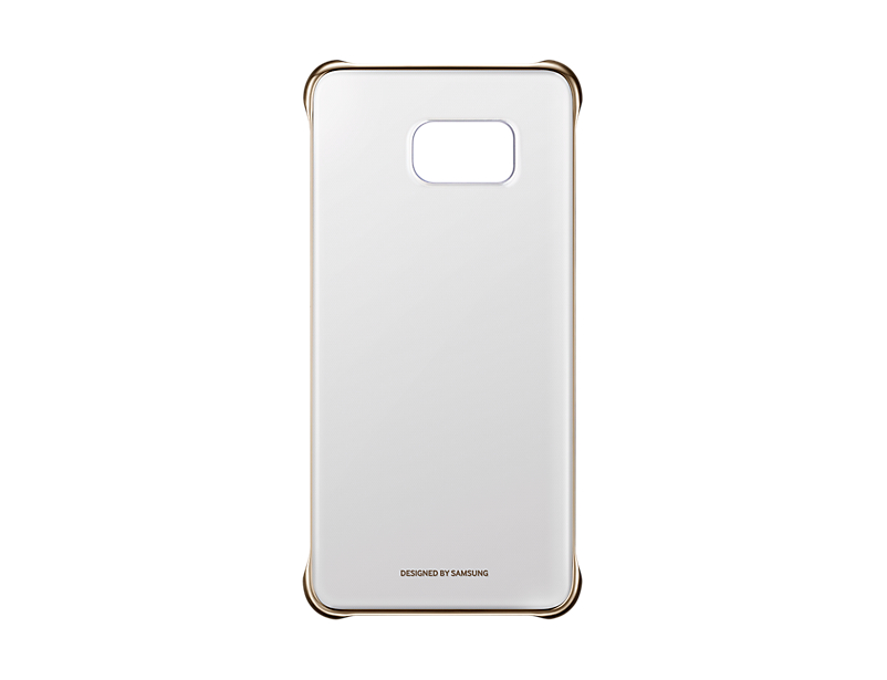 Чехол Samsung EF-QG928CFEGRU для Samsung Galaxy S6 Edge Plus ClearCover G928 золотистый прозрачный tpu case cover for samsung s6 edge plus