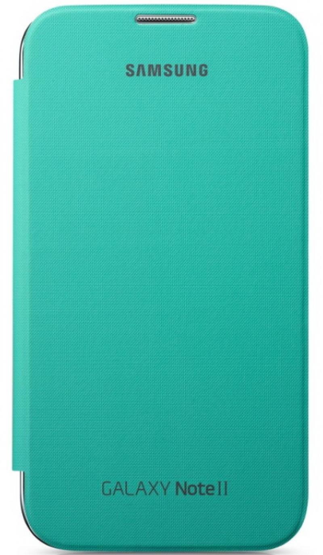 Чехол-книжка Samsung EFC-1J9FMEGSER Flip Cover для GT-N7100 Galaxy Note 2 зеленый чехол клип кейс samsung protective standing cover great для samsung galaxy note 8 темно синий [ef rn950cnegru]