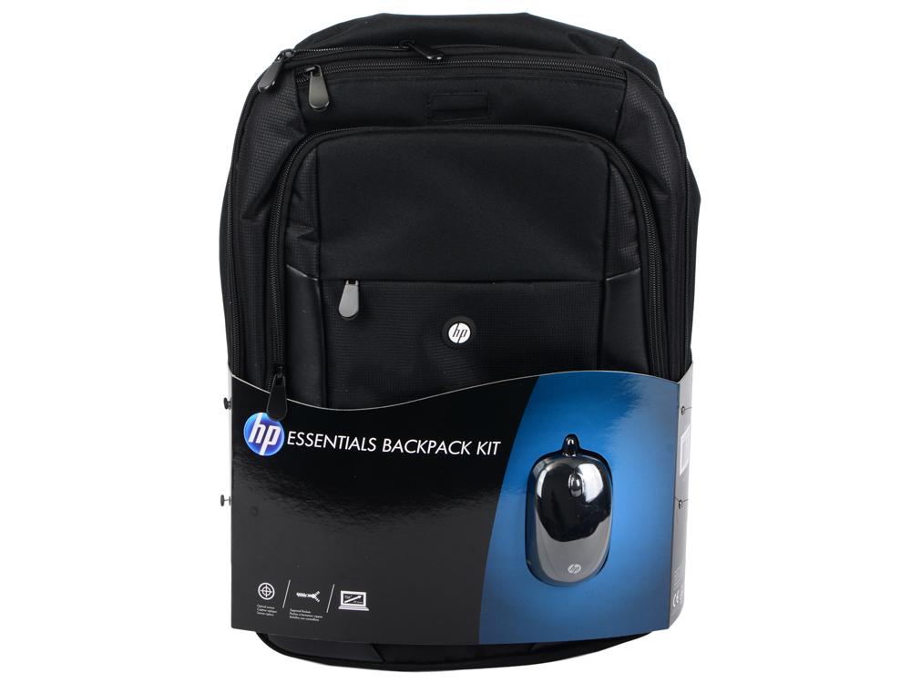 Сумка для ноутбука 15.6 HP Case Essentials Backpack E5L03AA искусственная кожа нейлон черный рюкзак для ноутбука 15 6 hp h4r84aa backpack нейлон синий черный