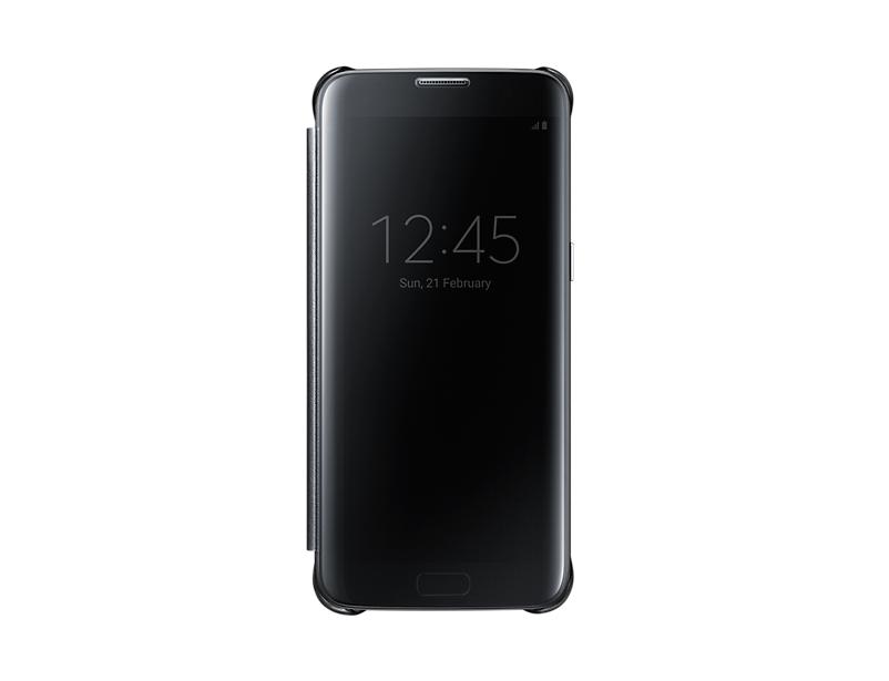 Чехол Samsung EF-ZG935CBEGRU для Samsung Galaxy S7 edge Clear View Cover черный чехол для смартфона samsung для galaxy s7 edge clear view cover серебристый ef zg935csegru ef zg935csegru