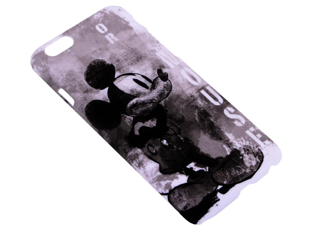 все цены на  Крышка задняя Дисней/Марвел для iPhone 6 Микки, черно-белый  онлайн