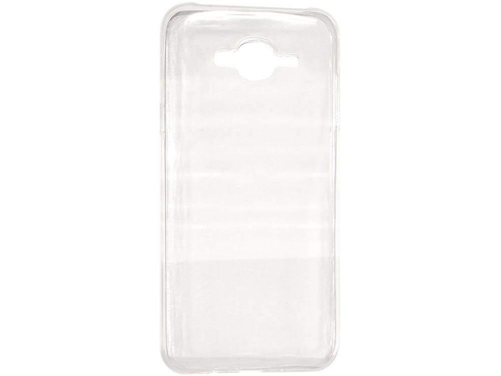 Крышка задняя для Samsung Galaxy J7 Силикон Прозрачный