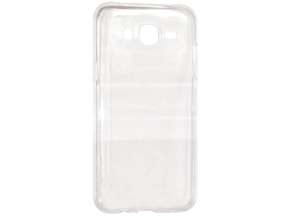 Крышка задняя для Samsung Galaxy J3 Силикон Прозрачный