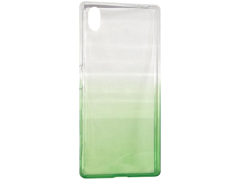 Крышка задняя для Sony Xperia Z5 Силикон Зелёный