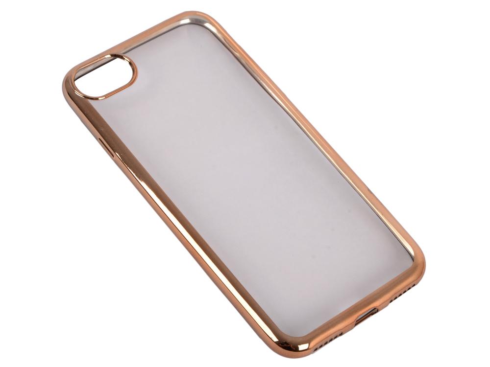 купить Силиконовый чехол с рамкой для iPhone 7 DF iCase-08 (gold) недорого