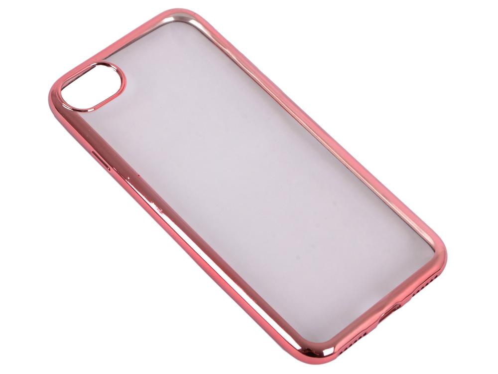 купить Силиконовый чехол с рамкой для iPhone 7 DF iCase-08 (rose gold) недорого